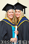 Mental Health Nursing graduates pictured at the ITT graduations in the Brandon Hotel on Friday, from left: Sharon McCarthy (Castlemaine), and Stephanie McCarthy (Milltown).