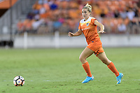 Houston, TX - Wednesday June 28, 2017: Camille Levin looks to pass the ball during a regular season National Women's Soccer League (NWSL) match between the Houston Dash and the Boston Breakers at BBVA Compass Stadium.