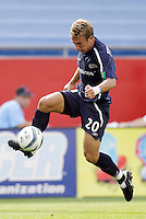 the New England Revolution's Taylor Twellman. The New England Revolution and D.C. United finished in a scoreless tie in MLS play at Gillette Stadium, Foxboro, MA on Saturday August 28, 2004.