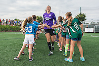 Allston, MA - Sunday July 31, 2016: Kaitlyn Savage prior to a regular season National Women's Soccer League (NWSL) match between the Boston Breakers and the Orlando Pride at Jordan Field.