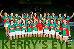 Mid kerry Minor ladies team celebrated their victory over St Kierans in the B Mangan Coaches sponsored Kerry Ladies Gaelic Football Minor Championship final at Austin Stack Park, Tralee last Friday night.