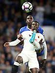 Chelsea's Kurt Zouma tussles with Watford's M'Baye Niang during the Premier League match at Stamford Bridge Stadium, London. Picture date: May 15th, 2017. Pic credit should read: David Klein/Sportimage