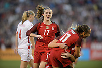 San Diego, Ca - Sunday, January 21, 2018: Tierna Davidson during a USWNT 5-1 victory over Denmark at SDCCU Stadium.