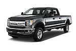 2017 Ford F-250 XLT-Crew 4 Door Pick-up Angular Front stock photos of front three quarter view