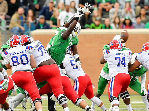 NOVEMBER 5: Mean Green Football v Louisiana Tech at Apooge Stadium in Denton on November 5, 2016 in Denton Texas. (Photo Rick Yeatts NOVEMBER 5: Mean Green Football v Louisiana Tech at Apooge Stadium in Denton on November 5, 2016 in Denton Texas. (Photo Rick Yeatts