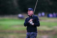 Richard McEvoy (ENG) on the 18th during Round 2 of the Sky Sports British Masters at Walton Heath Golf Club in Tadworth, Surrey, England on Friday 12th Oct 2018.<br /> Picture:  Thos Caffrey | Golffile<br /> <br /> All photo usage must carry mandatory copyright credit (&copy; Golffile | Thos Caffrey)