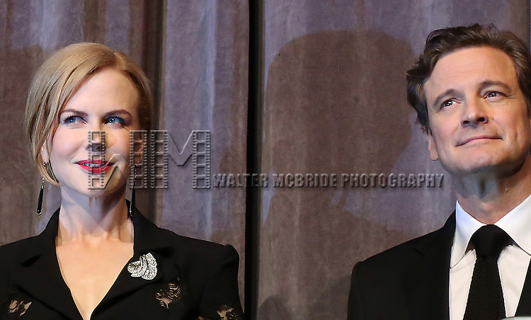 "Nicole Kidman and Colin Firth during the 2013 Tiff Film Festival Presentation for ""The Railway Man""  at The Roy Thomson Hall Theatre on September 6, 2013 in Toronto, Canada."