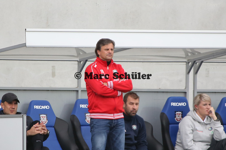 Trainer Falko Götz (Aue)- FSV Frankfurt vs. FC Erzgebirge Aue, Frankfurter Volksbank Stadion