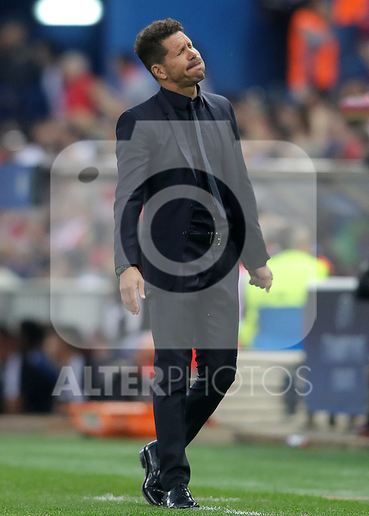 Atletico de Madrid's coach Diego Pablo Cholo Simeone during Champions League 2016/2017 Quarter-finals 1st leg match. April 12,2017. (ALTERPHOTOS/Acero)