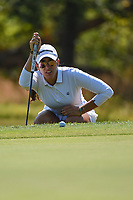 Maria Fassi (MEX) looks over her putt on 12 during the round 3 of the Volunteers of America Texas Classic, the Old American Golf Club, The Colony, Texas, USA. 10/5/2019.<br /> Picture: Golffile   Ken Murray<br /> <br /> <br /> All photo usage must carry mandatory copyright credit (© Golffile   Ken Murray)
