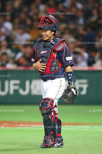 Shinnosuke Abe (JPN), .MARCH 6, 2013 - WBC : .2013 World Baseball Classic .1st Round Pool A .between Japan 3-6 Cuba .at Yafuoku Dome, Fukuoka, Japan. .(Photo by YUTAKA/AFLO SPORT) [1040]