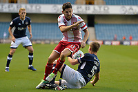 Stevenage Tom Pett and Millwall Tony Craig tangle during Millwall vs Stevenage, Caraboa Cup Football at The Den on 8th August 2017