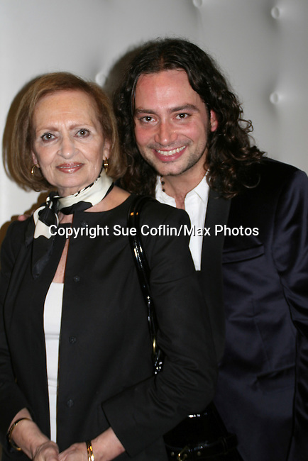 "Bold and the Beautiful's and American Idol Constantine Maroulis stars as ""Drew"" in Broadway's Rock of Ages and poses with his mom Constance on opening night on October 16, 2008 at the New World Stages Theatre with curtain call and the after party at Marquee, New York City, New York. (Photo by Sue Coflin/Max Photos)"