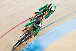 The team of Mexico with Jessica Salazr Valles and Yuli Osuna Verdugo compete in Women's Team Sprint - Qualifying match as part of the 2017 UCI Track Cycling World Championships on 12 April 2017, in Hong Kong Velodrome, Hong Kong, China. Photo by Victor Fraile / Power Sport Images