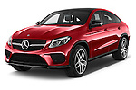 2018 Mercedes Benz GLE-Class 350 5 Door SUV Angular Front stock photos of front three quarter view