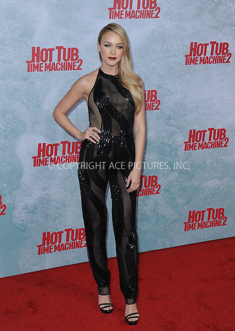 WWW.ACEPIXS.COM<br /> <br /> February 18 2015, LA<br /> <br /> Mariana Paola at the premiere of Paramount Pictures' 'Hot Tub Time Machine 2' at the Regency Village Theatre on February 18, 2015 in Westwood, California.<br /> <br /> <br /> By Line: Peter West/ACE Pictures<br /> <br /> <br /> ACE Pictures, Inc.<br /> tel: 646 769 0430<br /> Email: info@acepixs.com<br /> www.acepixs.com