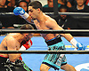 Danny Garcia, right, battles Brooklyn native Paulie Malignaggi in the main event during a 12-round Premier Boxing Champions match at the Barclays Center on Saturday, August 1, 2015. Garcia won the bout by TKO in the ninth round. <br /> <br /> James Escher