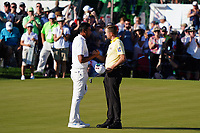 Webb Simpson (USA) & Tony Finau (USA) In action during the final round of the Waste Management Phoenix Open, TPC Scottsdale, Phoenix, Arizona, USA. 01/02/2020<br /> Picture: Golffile | Phil INGLIS<br /> <br /> <br /> All photo usage must carry mandatory copyright credit (© Golffile | Phil Inglis)