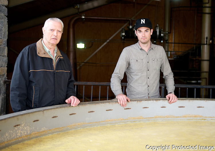 Even (left) and Drew Kulsveen are the father-son duo of the Willett Distillery.