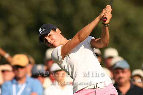 Apr. 1, 2006; Rancho Mirage, CA, USA; Lorena Ochoa tees off on the 16th hole at the Kraft Nabisco Championships at Mission Hills Country Club. ..Mandatory Photo Credit: Darrell Miho.Copyright © 2006 Darrell Miho .
