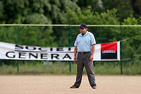 23 May 2009: Umpire Gerald Lacoste is seen during the 2009 challenge de France, a tournament with the best French baseball teams - all eight elite league clubs - to determine a spot in the European Cup next year, at Montpellier, France. Rouen wins 6-2 over La Guerche.