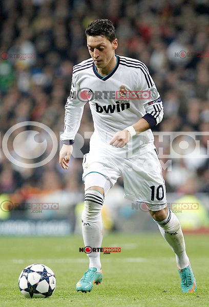 Real Madrid's Mesut Ozil during the quarter final Champion League match. April 3, 2013.(ALTERPHOTOS/Alconada)