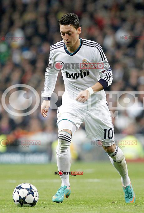 Real Madrid's Mesut Ozil during the quarter final Champion League match. April 3, 2013.(ALTERPHOTOS/Alconada)