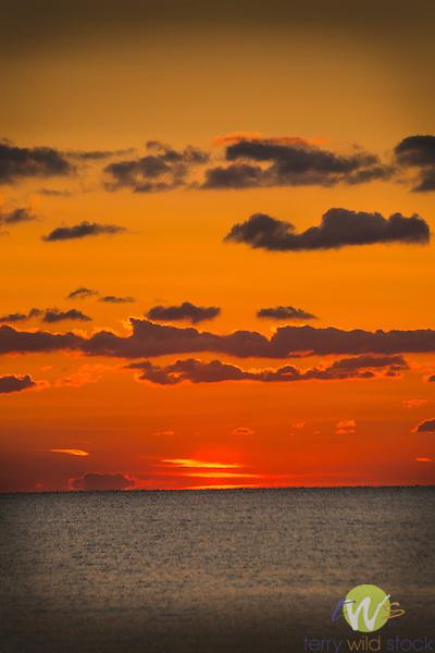 Hammonasset Beach State Park. Long Island Sound on late fall afternoon.