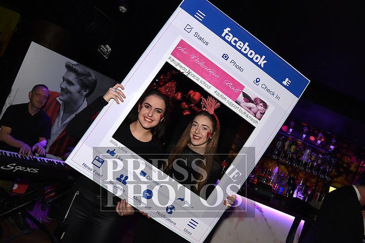 ABACAS Valentine Ball 2017 drinks reception at Earth Night Club, Westcourt Hotel Drogheda. Photo:Colin Bell/pressphotos.ie