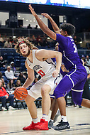 Washington, DC - December 22, 2018: Richmond Spiders forward Grant Golden (33) drives to the basket during the DC Hoops Fest between Hampton and Howard at  Entertainment and Sports Arena in Washington, DC.   (Photo by Elliott Brown/Media Images International)