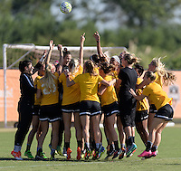 Houston, TX - Friday Oct. 07, 2016: Western New York Flash during training prior to the National Women's Soccer League (NWSL) Championship match between the Washington Spirit and the Western New York Flash at BBVA Compass Stadium.