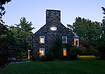 Historical House Tour, Fitchburg, 2010, Exterior, Bogdesarian House, Magic Hour, Image by Charles Sternaimolo