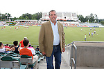 12 June 2013: NASL Commissioner Bill Peterson. The North American Soccer League's Carolina RailHawks hosted Major League Soccer's CD Chivas USA at WakeMed Stadium in Cary, NC in a 2013 Lamar Hunt U.S. Open Cup fourth round game. Carolina won the game 3-1 after extra time.