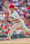 6 September 2014: Philadelphia Phillies starting pitcher A.J. Burnett on the mound against the Washington Nationals at Nationals Park in Washington, DC. The Nationals fell to the Phillies 3-1 in the second game of their 3-game series. Mandatory Credit: Ed Wolfstein Photo *** RAW (NEF) Image File Available ***