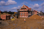 A913JE New private housing estate being constructed Rendlesham Suffolk England