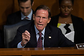 Senator Richard Blumenthal, Democrat of Connecticut, speaks as Democrats and Republicans debate during a hearing before the United States Senate Judiciary Committee to consider the nomination of Judge Brett Kavanaugh to be an Associate Justice of the US Supreme Court to replace the retiring Justice Anthony Kennedy on Capitol Hill in Washington, DC on Tuesday, September 4, 2018.Credit: Alex Edelman / CNP