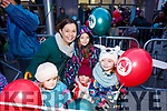 Waiting for Santa at CH Chemist Christmas Parade Tralee on Saturday were Linda Duggan, Kayla Commane, kayleigh Jane O'Connor, Laura Commane and Elena Duggan