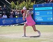 June 15th 2017, Nottingham, England; WTA Aegon Nottingham Open Tennis Tournament day 6;  Forehand from Alison Riske of USA during her game against Magdalena Rybarikova of The Slovak Republic