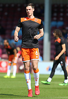 Blackpool's Ben Heneghan during the pre-match warm-up <br /> <br /> Photographer David Shipman/CameraSport<br /> <br /> The EFL Sky Bet League One - Scunthorpe United v Blackpool - Friday 19th April 2019 - Glanford Park - Scunthorpe<br /> <br /> World Copyright © 2019 CameraSport. All rights reserved. 43 Linden Ave. Countesthorpe. Leicester. England. LE8 5PG - Tel: +44 (0) 116 277 4147 - admin@camerasport.com - www.camerasport.com