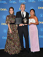 LOS ANGELES, CA. February 02, 2019: Marina de Tavira, Alfonso Cuaron & Yalitza Aparicio at the 71st Annual Directors Guild of America Awards at the Ray Dolby Ballroom.<br /> Picture: Paul Smith/Featureflash