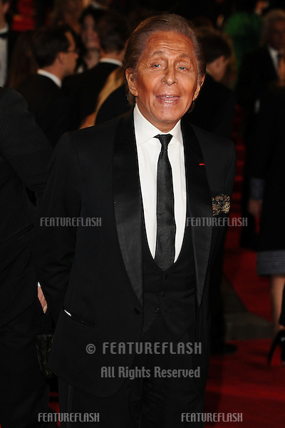 Valentino arriving for the Royal World Premiere of 'Skyfall' at Royal Albert Hall, London. 23/10/2012 Picture by: Steve Vas / Featureflash