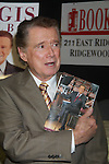 """Regis Philbin signing his new book """"How I Got This Way"""" on November 15, 2011 at Bookends, Ridgewood, New Jersey. (Photo by Sue Coflin/Max Photos)"""