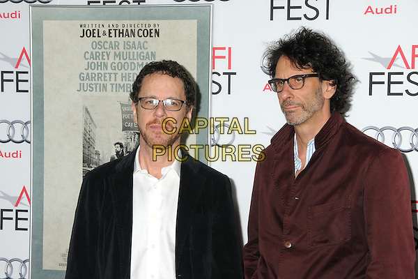 14 November 2013 - Hollywood, California - Ethan Coen, Joel Coen. AFI Fest 2013 - &quot;Inside Llewyn Davis&quot; Closing Night Gala Screening held at the TCL Chinese Theatre. <br /> CAP/ADM/BP<br /> &copy;Byron Purvis/AdMedia/Capital Pictures
