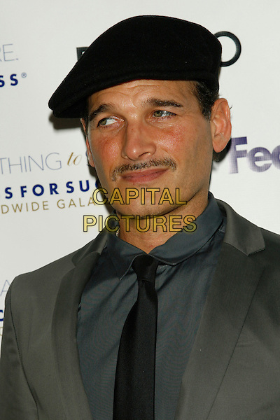 PHILLIP BLOCH.Something To Share: Dress for Success Worldwide Gala 2008.at The Marriott Marquis, New York, NY, USA, April 9, 2008..portrait headshot  black cap hat tie grey shirt gray jacket moustache .CAP/LNC/TOM.©LNC/Capital Pictures