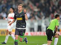 FUSSBALL   1. BUNDESLIGA  SAISON 2011/2012   19. Spieltag   29.01.2012 VfB Stuttgart - Borussia Moenchengladbach    JUBEL Borussia Moenchengladbach; Torschuetze zum 0-2 Marco Reus (li); Torwart Sven Ulreich (re, VfB Stuttgart) enttaeuscht