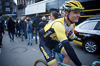Wilco Kelderman (NLD/LottoNL-Jumbo) to the start<br /> <br /> 101th Liège-Bastogne-Liège 2015