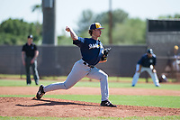 Milwaukee Brewers relief pitcher Joey Matulovich (45) delivers a pitch during an Instructional League game against the San Diego Padres at Peoria Sports Complex on September 21, 2018 in Peoria, Arizona. (Zachary Lucy/Four Seam Images)