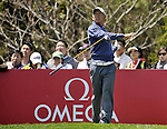 JEJU, SOUTH KOREA - APRIL 24:  Anthony Kim of USA tosses his club after tee off on the 16th hole during the Round Two of the Ballantine's Championship at Pinx Golf Club on April 24, 2010 in Jeju island, South Korea.  Photo by Victor Fraile / The Power of Sport Images