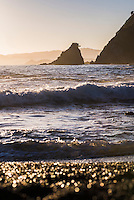 'Rocky Bay', a beach at Tapeka Point at sunrise, Russell, Bay of Islands, Northland Region, North Island, New Zealand