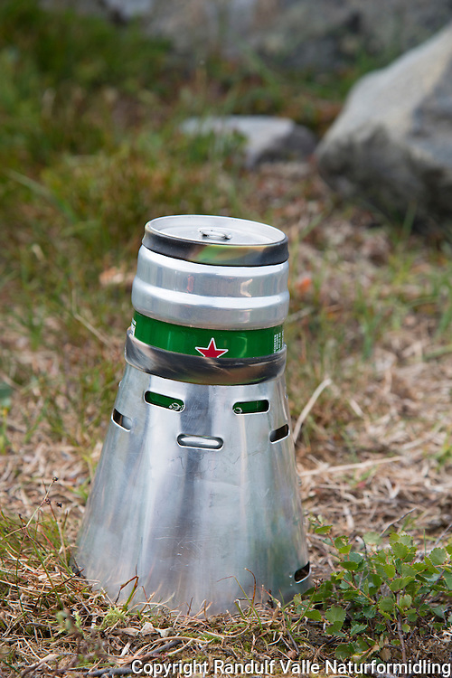 Caldera Cone brenner fra Trail Designs. ---- Caldera Cone stove from Trail Designs.